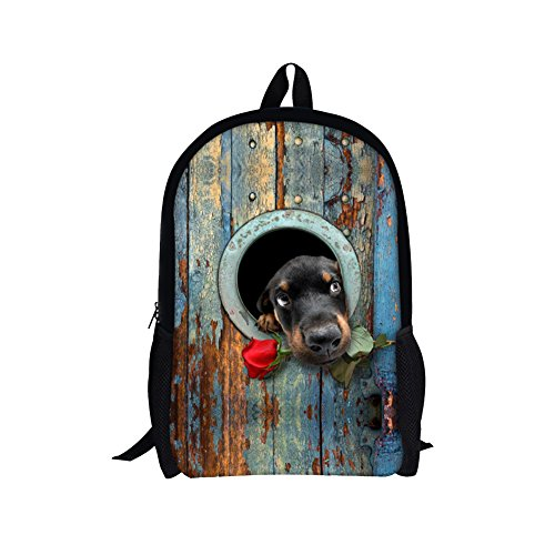 TOREEP Stylish Cute Dog Animal Printed School Backpack Bookbag for (Olive Transparent Sunglasses)