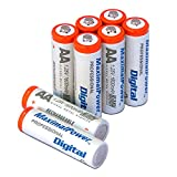 Maximal Power AA8B-1600 AA Ni-MH 1600mAh Rechargeable Battery - 8 Pack