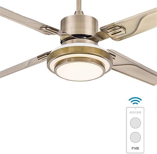 Ventilador de Techo LED luz Interruptor de Pared o Control Remoto Adecuado for Dormitorio Sala de Estar jardín de Infantes lámpara de Techo: Amazon.es: Hogar