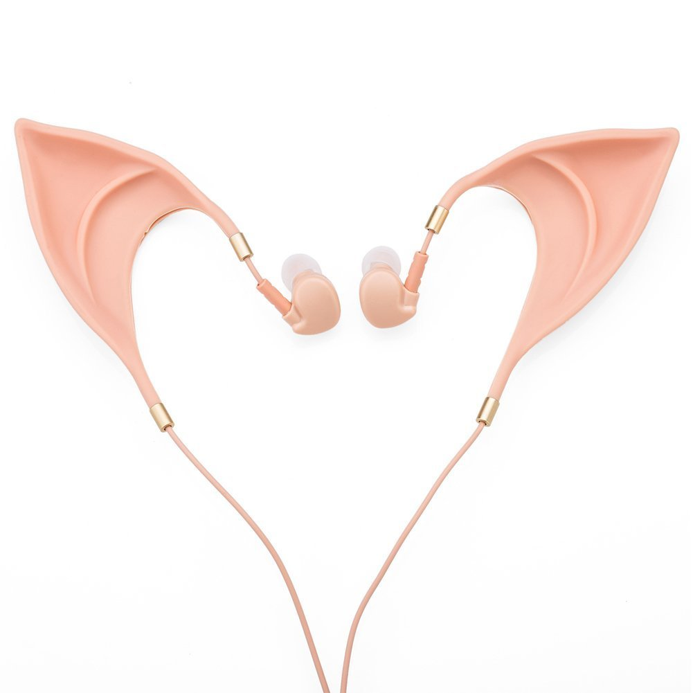 Elf Earbuds Headphones in-Ear Headphones Hands-Free Headset with Mic for iPhone iPad Android Computer Cosplay Headset