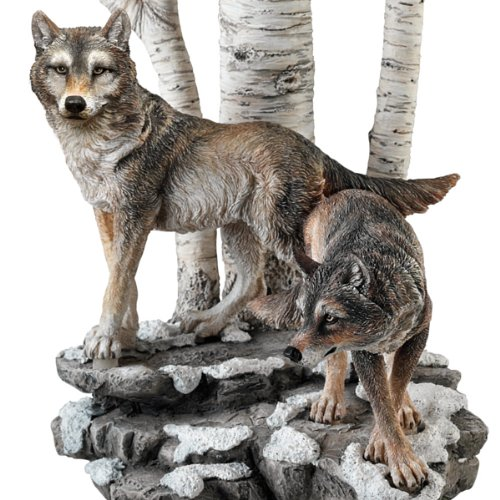 Al Agnew Spirit Of The Forest Wolf Art Table Lamp By The