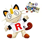 Build a Bear Pokemon Meowth Cat Exclusive Complete Set Quickball Team Rocket Hoodie Sound TCG Card
