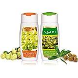 Vaadi Herbals Organic Amla with Shikakai Reetha  Anti Dandruff Shampoo + Olive Conditioner 2 X 110Ml