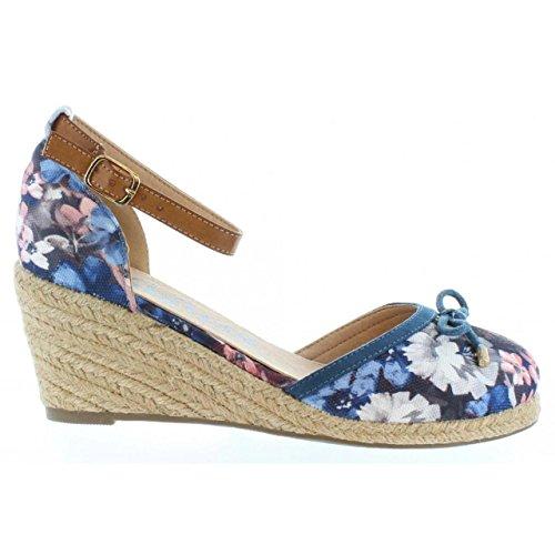 Zapatos de cuña de Mujer REFRESH 61791 TEX FLOR JEANS