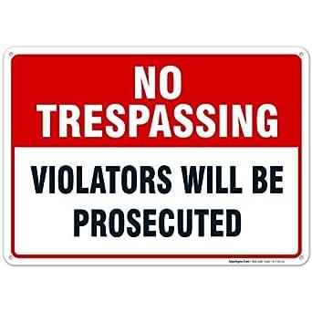 Amazon.com: Propiedad Privada no TRESPASSING – Señal No ...