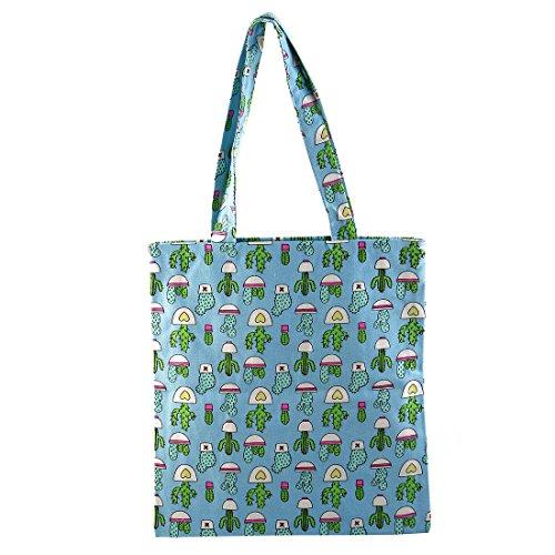 Bolso Paquete Compras De sourcing Cactus Mano Picnic Hombro De Libre Al Camping De map Aire Bolso Azul BSq0x1w7