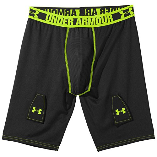 Under Armour Men's UA Hockey Grippy Compression Short W/ Cup Small Black (Under Armour Ice Compression Short)