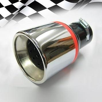 Endrohr Auspuff Blende Auspuffrohr Chrom Auspuffendrohr Universell Schalldampf Endstück Endrohrblende Sportauspuff Optik Tuning 43 57mm Auto