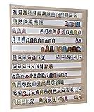 Alsino V75 Wall Showcase Display Cabinet | 16,14' x 20,47' x 1,96' | 41 x 52 x 5 cm | Untreated Birch Wood | 2 clear sliding Plexiglas doors | 11 Shelves | Perfect thimble collection | Miniatures