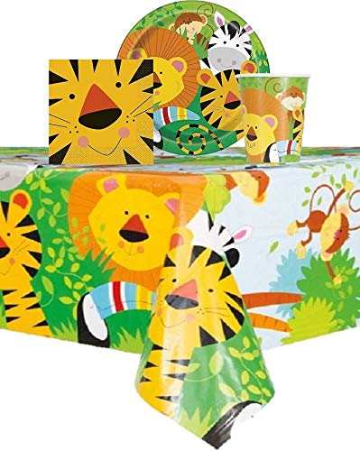 Jungle Animal Themed Party Birthday - Serves 16 Guest - 16 Plates 9