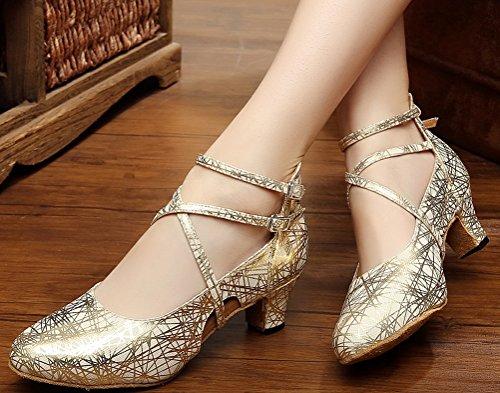 CFP - Zapatillas de danza de Material Sintético para mujer Dorado dorado kKfiq6Yz