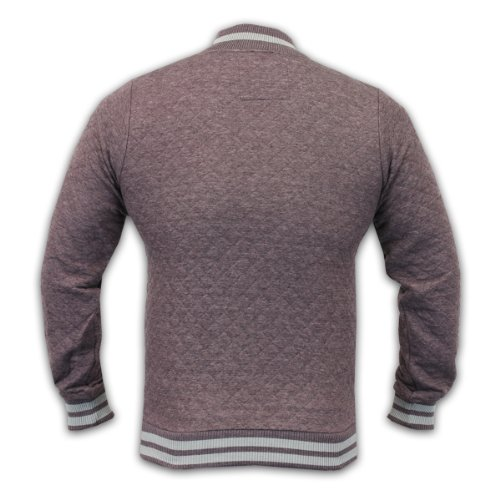 Herren Sweater Soul Star Jacke Diamant Gestept Schulteam Top winter Feizeit Nue LARRY - XL, Pflaume