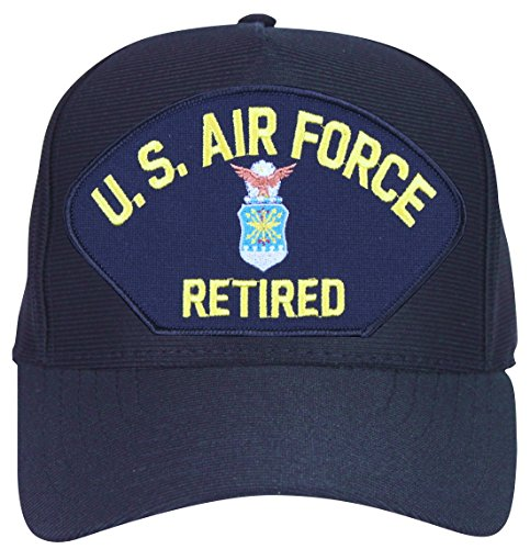 MilitaryBest U.S. Air Force Retired with Crest Ball Cap