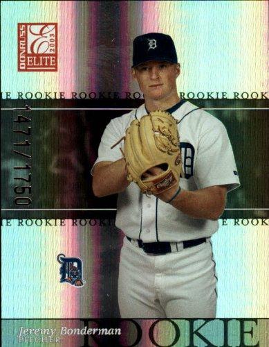 2003 Donruss Elite Baseball Rookie Card #191 Jeremy Bonderman Near - Baseball Donruss 2003 Card Elite