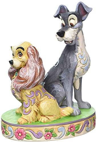 Enesco Jim Shore Disney Lady and the Tramp 60th Anniversary Figurine 4046040 New
