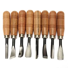 Wood Sculpture Carving Chisel Tool Set DIY Art Craft(8 Pcs)