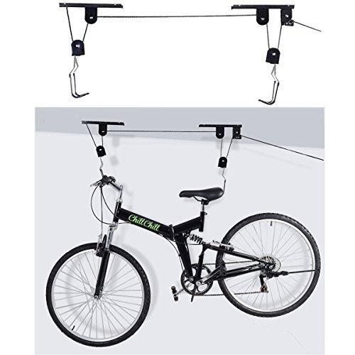 New Bike Bicycle Lift Ceiling Mounted Hoist Storage Garage Hanger Pulley Rack by Interstellarr by Interstellarr