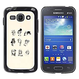 Slim Design Hard PC/Aluminum Shell Case Cover for Samsung Galaxy Ace 3 GT-S7270 GT-S7275 GT-S7272 Portrait Woman Profile White Black Pencil Art / JUSTGO PHONE PROTECTOR