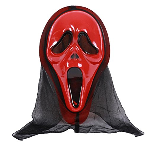 3 Stooges Halloween Costumes (Boomboom Halloween party Cosplay Mask Horror Grimace Mask (C))