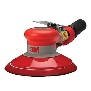 """3M Random Orbital Sander – Self Generated Vacuum Sander – 6"""" x 3/16"""" Diam. Orbit – Pneumatic Palm Sander – Hook and Loop Pad – For Wood, Composites, Metal – Original Series"""