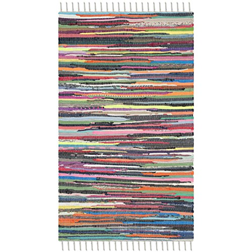 Safavieh Rag Rug Collection RAR121M Hand Woven and Multi Cotton Area Rug (2
