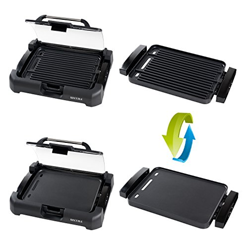 Electric Grill Griddle ~ Secura gr xl w electric grill griddle reversible