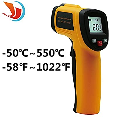 QST 1Pcs ABS Handheld Non-contact / Hand Tools Digital LCD Backlight Display -50?- 550?(-58?-1022?) Emissivity 0.95 GM320 Infrared Thermometer Laser IR Temperature Gun Tester