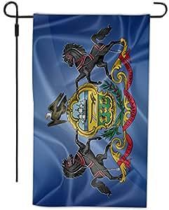 Rikki Caballero diseño de bandera de Pennsylvania Estado decorativos casa o jardín bandera, 12por 45,72cm, Full Bleed