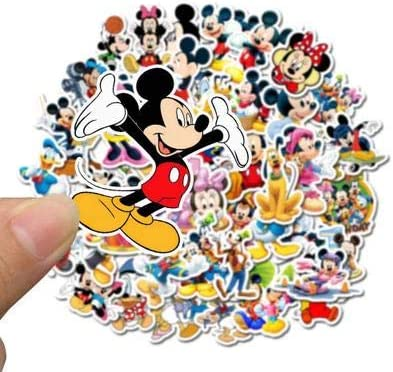 50 Pcs Mickey Mouse Stickers for Water Bottles and Laptop Cute Waterproof Stickers Best Gift for Kids Teen Popular Game Stickers