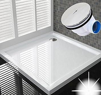 Detalles de 100 x 100 Plato de ducha Ducha Bañera plano bañera H 6 ...
