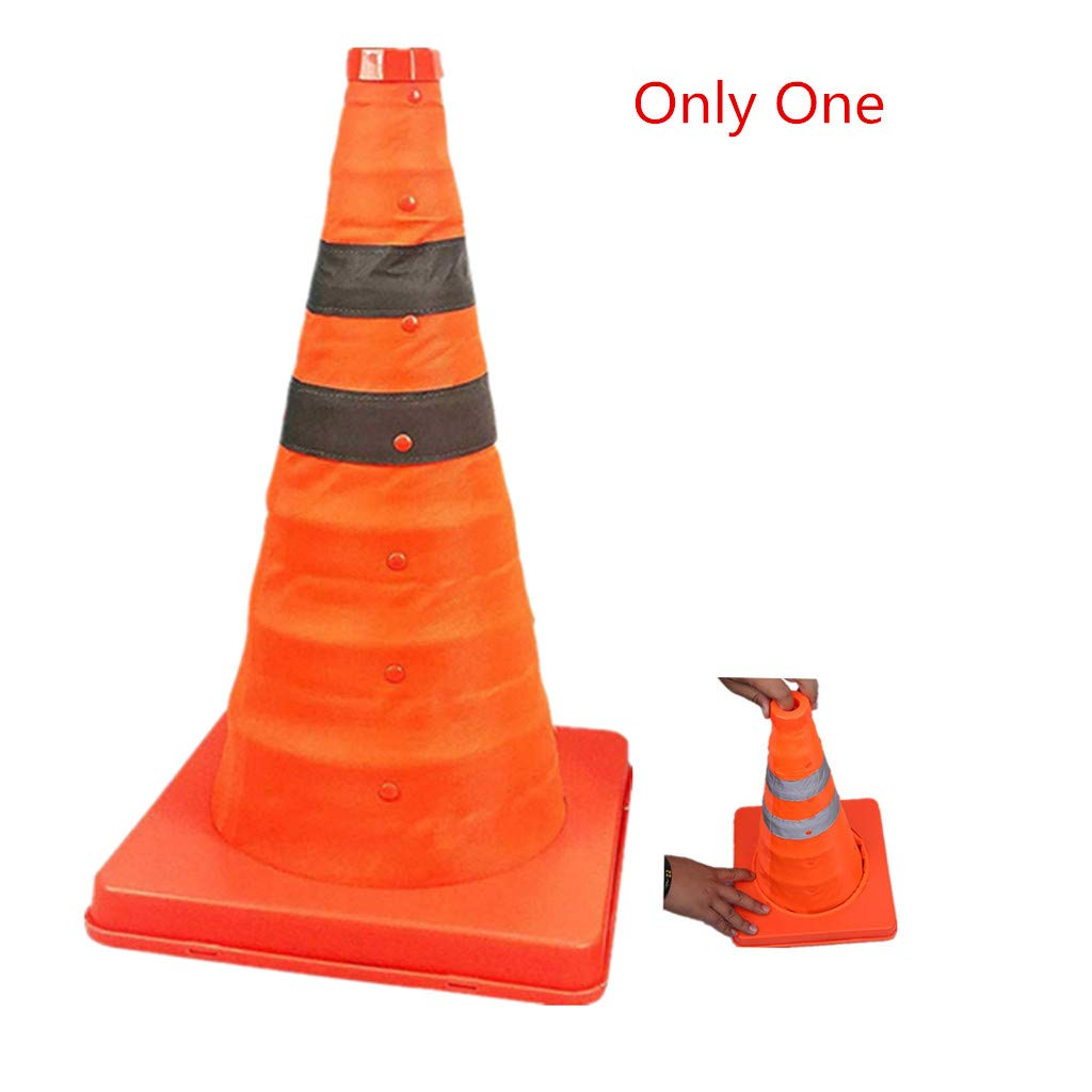 1PC Pack 45cm Collapsible Traffic Cones//Traffic Cone Sign//Multi Purpose Pop up Reflective Safety Cone,OrangeSize : 18 inch //45cm