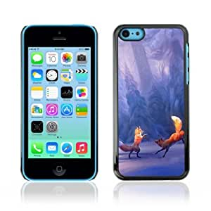 Designer Depo Hard Protection Case for Samsung Galaxy Note 3 N9000 / Winter Fox Playing Mystical Forrest