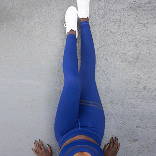 Gym Crayon OHQ Leggings Long Exercice Yoga Pantalon Yoga Skinny XL Fitness Bleu Sports La Pantalon Femmes Ladies Toute Leggings Longueur 0fqARwC06