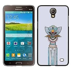Caucho caso de Shell duro de la cubierta de accesorios de protección BY RAYDREAMMM - Samsung Galaxy Mega 2 - Gráfico de la mano del personaje interesante