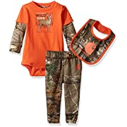 Carhartt Baby Little Boys' Sets, Dark Brown Printed, 3M
