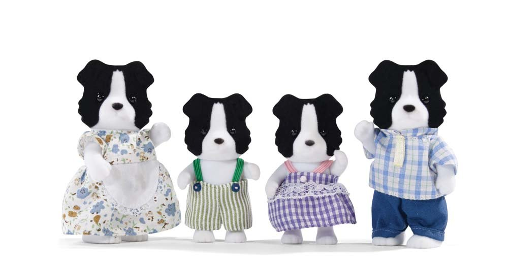 Calico Critters Border Collie Family Set