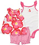 Carter's Diaper Cover Set - Pink/Red Floral-18 Months