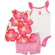 Carter's Diaper Cover Set - Pink/Red Floral-3 Months