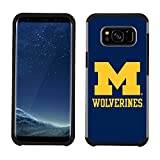 Prime Brands Group Textured Team Color Cell Phone Case for Samsung Galaxy S8 - NCAA Licensed University of Michigan Wolverines