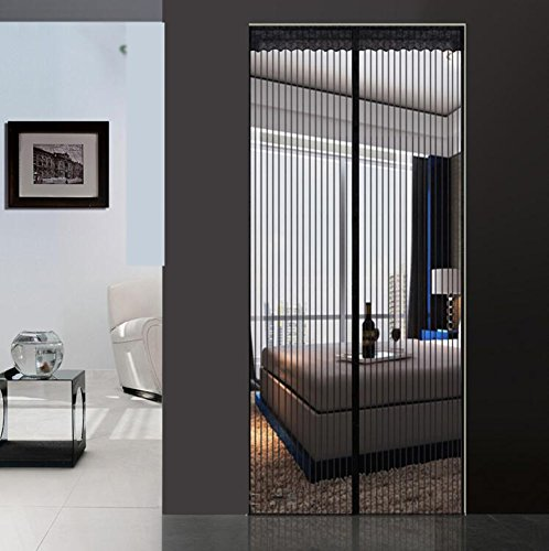 Price comparison product image Summer magnetic fly screen door,  Premium Magnetic Encrypted Thick Magnetic screen door,  Bedroom Mute Stripes Soft screen door-A 95x210cm(37x83inch)