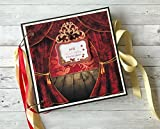 Kristabella Creations 12x12 personalized scrapbook album, Valentine`s day gift, Memory book, 20 inner pages, Beautifully decorated, Interactive, Holds 180 photos