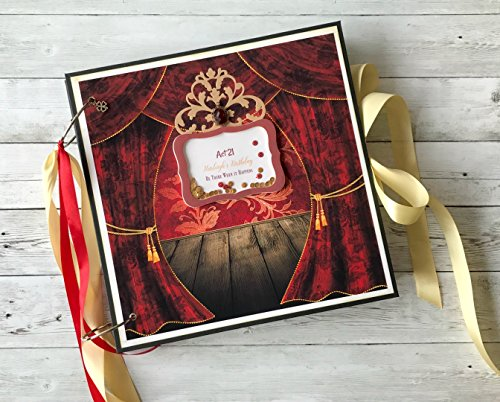 Kristabella Creations 12x12 personalized scrapbook album, Valentine`s day gift, Memory book, 20 inner pages, Beautifully decorated, Interactive, Holds 180 photos by Kristabella Creations