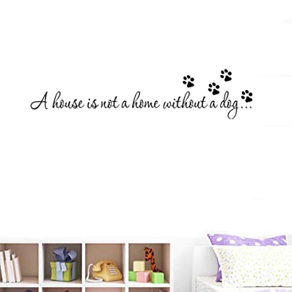 "438ddad149b8 Amaonm 22x6"" Black Vinyl Wall art Decals Quotes Saying ""A house  is not"