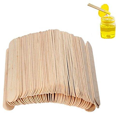 Beauties Factory 100 pcs Wooden Waxing Wax Spatula Tongue Depressor Disposable Bamboo Sticks