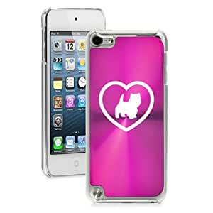 Apple iPod Touch 5th Generation Hard Back Case Cover Westie Heart (Hot Pink)