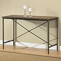 Metro Shop Elements Cross-design Grey Sofa Table