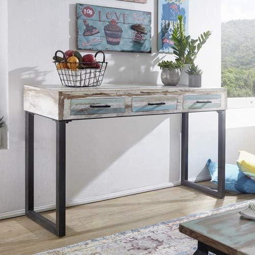 Wohnling Mesa Consola Lina Madera Maciza 130 x 79 x 40 cm ...