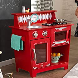 KidKraft Kids Kitchen Playset, Red
