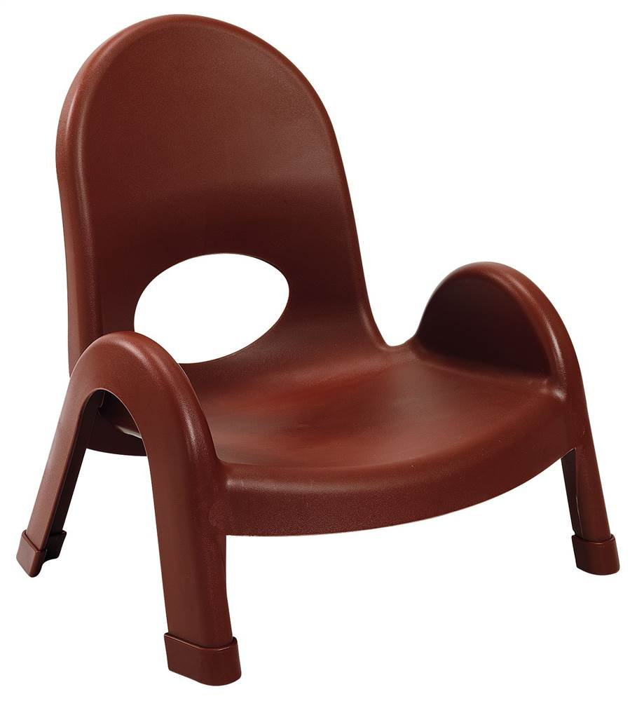 Angeles 5 in. Kids Stacking Chair in Cocoa