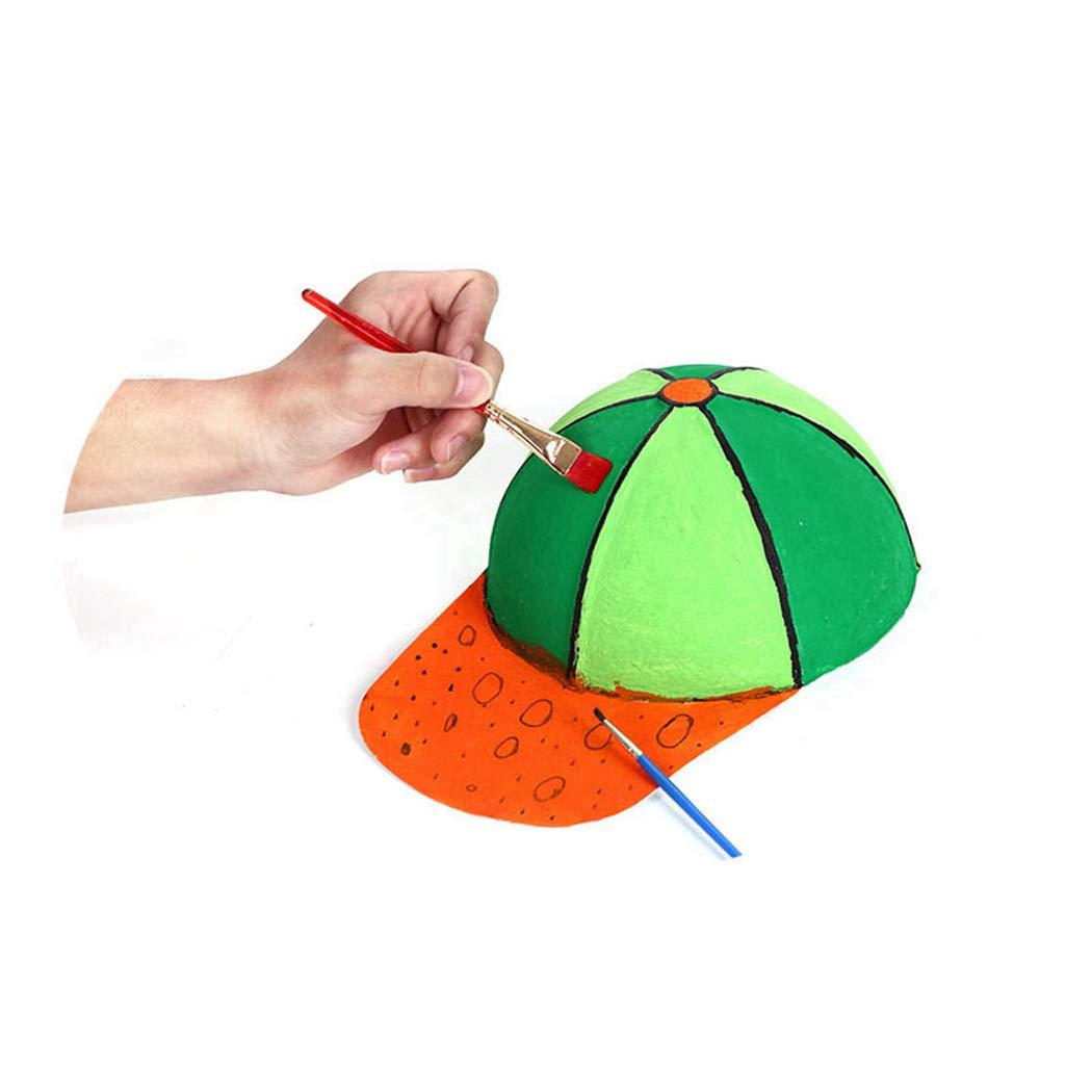 Joyibay DIY scherzt Baseballmützen, 10PCS scherzt kreative Malerei-Hut-Kappen-beiläufige Strand-Sonnenhüte der leeren Kunst für Sport im Freien